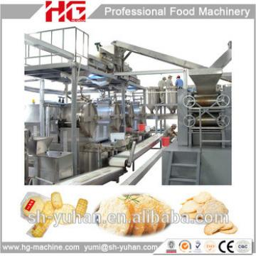 Whole set high capacity gas Rice cracker production line