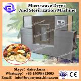 Continuous type microwave dryer and sterilizer for flowers